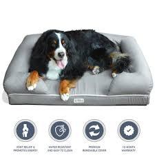 Ultimate Dog Bed & Lounge Premium Solid Memory Foam PetFusion
