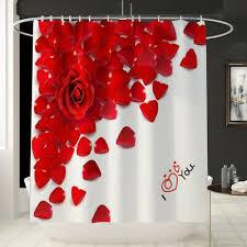 romantik muster bad dusche vorhang liner badezimmer