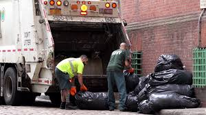 100 2 Men And Truck Two Men Loading Trash Into Garbage Truck In New York 4k Stock Video