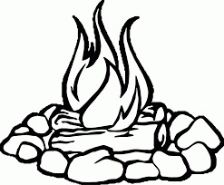 Campfire black and white fire pit clipart cliparts others art