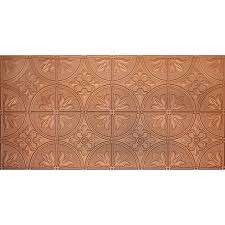 Styrofoam Glue Up Ceiling Tiles Canada by Shop Dimensions Copper Faux Tin Surface Mount Ceiling Tiles