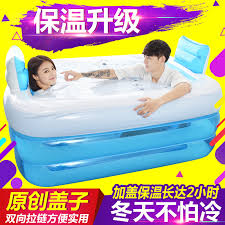 Inflatable Bathtub For Adults by Double Inflatable Bathtub Couple Bath Barrel Thickened