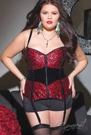 damask print corset plus plussizelingerie plussize biggirls