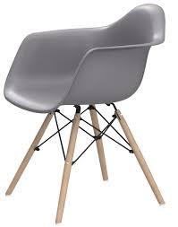 stuhl schalenstuhl sessel plastikstuhl retro kuche esszimmer grau weiß schwarz grau 1