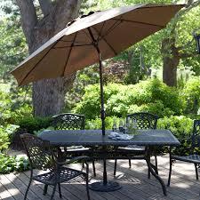 9 Ft Patio Umbrella With Crank by California Umbrella 11 Ft Fiberglass Double Vent Pacifica Fabric