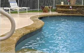 cool deck for pools gunite pool with stone coping kool deck