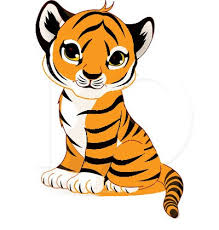 Baby Tiger Clipart 4718