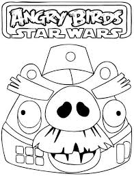 Charming Printable Angry Birds Star Wars Coloring Pages High Quality