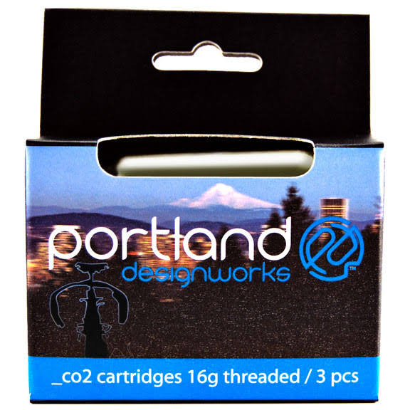 Portland Design Works CO2 Threaded Catridges - 16g, 3pk