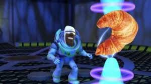 FROZONE TRIES TO STEAL CARLS CROISSANT
