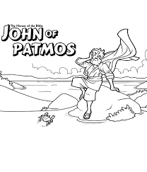 John Of Patmos The Bible Heroes Coloring Page