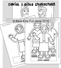 Daniel Bible Characters To Color Daniels Friends Shadrach Meshach And Abednego King Jehoiakim Nebuchadnezzar Coloring Page