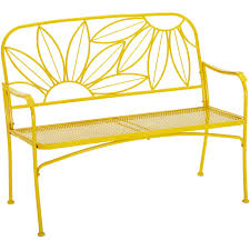 Cheap Patio Chairs At Walmart by Mainstays Hello Sunny Outdoor Patio Bench Yellow Walmart Com