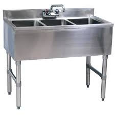 Bar Sink by 3 Compartment Stainless Steel Bar Sinks Commercial Sinks