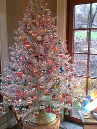 Luxury Tree Decorating Ideas Aluminum White Trees Decorated With Color Wheels Martha Stewart Xmas