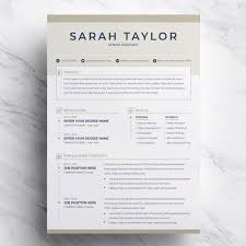 Sarah Taylor Resume Template Retail Logo Behance Resume