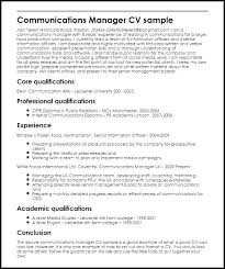 Communications Resume Examples Corporate Communication Manager