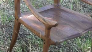 Maloof Rocking Chair Joints by Building A Maloof Inspired Low Back Chair Youtube