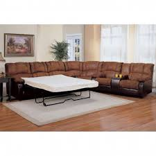 Black Leather Couch Decorating Ideas by Decorating Comfortable Sectional Sleeper Sofa For Living Room