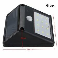 12 LED Solar Powered PIR Motion Sensor Light