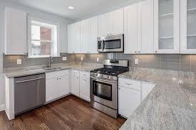 grey glass backsplash tile home design ideas