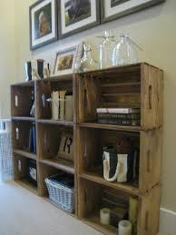 Wood Crate Shelf Diy by Bookshelves Made From Crates From Michaels And Stained Super Easy