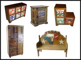Mexican Painted Furniture A Line Of Colorful Country Style Is Made From Reclaimed Wood And New As Well