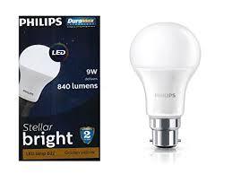 philips led bulb 9w b22 warm white 3000k 840 lumens stellar