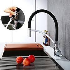 mitigeur pour cuisine homelody robinet de cuisine tuyau souple en silicone noir
