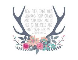 Digital Download Quote Art Genesis 273 Deer By CountryChicAntiques