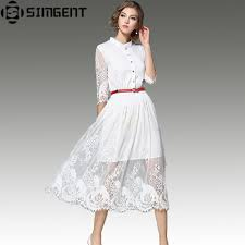 compare prices on white lace dress with black belt online
