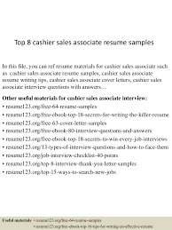 Top 8 Cashier Sales Associate Resume Samples Resume Examples By Real People Fniture Sales Associate Sample Job Descriptions 25 Skills Summer Example 1213 Retail Sales Associate Resume Samples Free Wear2014com Sale Loginnelkrivercom 17 New Image Fshaberorg Of Reports And Objective On For Retail Unique Guide Customer Representative 12 Samples 65 Inspirational Images Velvet Jobs