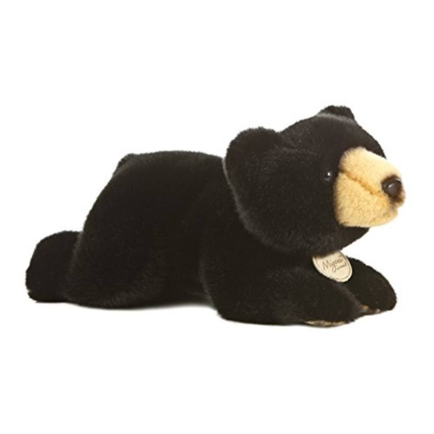 Aurora World Miyoni Black Bear Plush Toy - 11""
