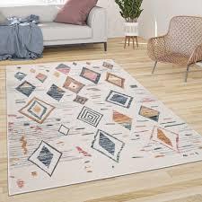 teppich wohnzimmer boho skandi muster modern mehrfarbig
