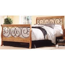 Wayfair Sleigh Bed by Nice Wooden Sleigh Bed With White Quilt And Pillows Sled Beds For