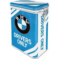 nostalgic vorratsdose mit aromadeckel bmw drivers only
