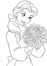 Coloring Book Pages Disney Characters Princess Free Download Full Size Printable Colouring