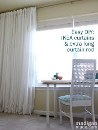 Levolor Curtain Rod Assembly by How To Create An Extra Long Curtain Rod Rosyscription