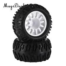 100 16 Truck Wheels MagiDeal Rubber 1 RC Climbing Car Monster Tyres Tire