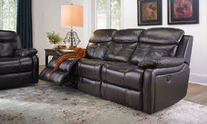 living room sofa leather power reclining graphite weir s