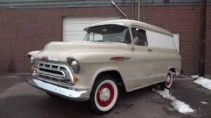 100 Panel Trucks 1957 Chevrolet 12 Ton Van Restored And RARE For Sale YouTube