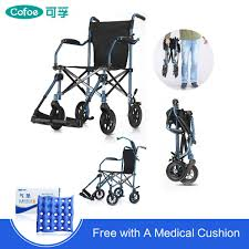 【Free Shipping】Cofoe Foldable Elderly WheelChair Aluminum Compact  Lightweight Wheel Chair With Foot Board Removable Trolley Cart Travel  Walker ... Drive Medical Flyweight Lweight Transport Wheelchair With Removable Wheels 19 Inch Seat Red Ewm45 Folding Electric Transportwheelchair Xenon 2 By Quickie Sunrise Igo Power Pride Ultra Light Quickie Wikipedia How To Fold And Transport A Manual Wheelchair 24 Inch Foldable Chair Footrest Backrest