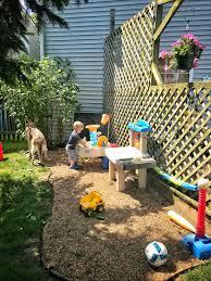100 Area Trucks Backyard Kids Play Area Pea Gravel For Trucks And Chalk Board Paint