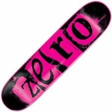 zero skateboards zero pink punk deck 7 75 skateboard decks from