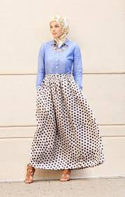 The New Line Introduces Classic Day Skirt In Polka Dots And Stripes It Combines 50s Swing Silhouette With Of Moment Prints Colors