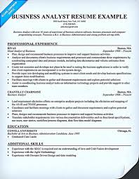 Business Analyst Resume Describes The Skills And Expertise Of
