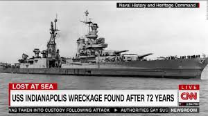 Uss America Sinking Location by Uss Indianapolis Wreckage Found After 72 Years Cnn