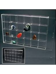 Quick View Rock Display Case Acrylic Glass Curio W 24 Compartments