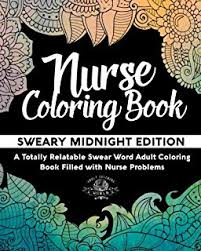 Nurse Coloring Book Sweary Midnight Edition