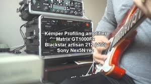Best Frfr Cabinet For Kemper by Kemper Profiling Amp Matrix Gt1000fx Test Youtube